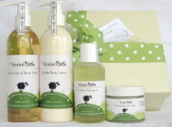 Verite Bebe organic skincare range