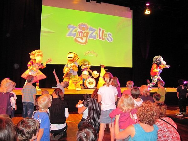 Cbeebies Zingzilla launch at Sydney Opera House