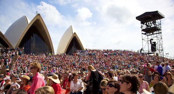 Oprah at the Sydney Opera House