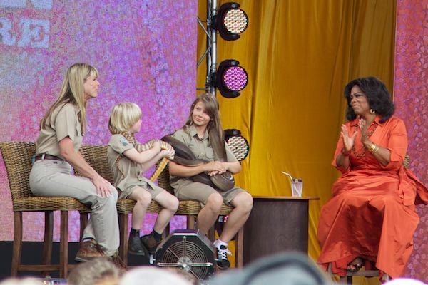 Oprah and the Irwins Bindi Terri Bob