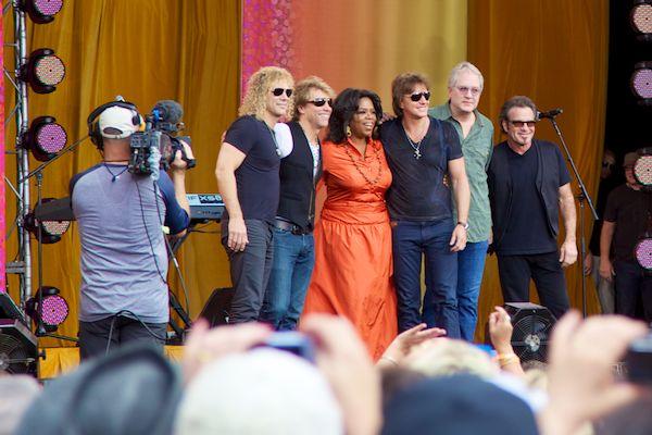 Oprah and Bon Jovi in Australia