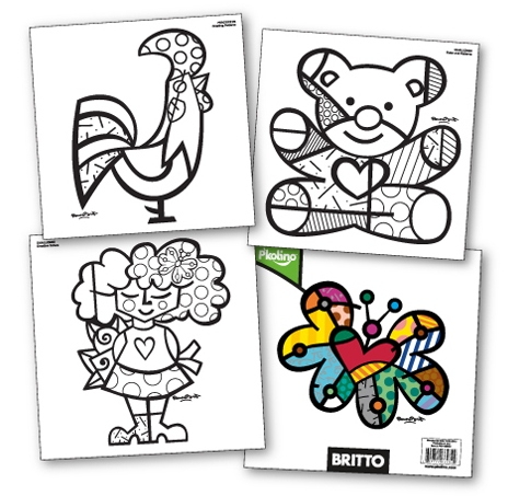 Drawings By Romero Britto Colouring Pages Romero Britto Coloring Pages