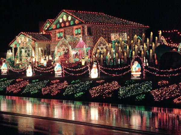 The christmas lights scene in national lampoon s christmas vacation