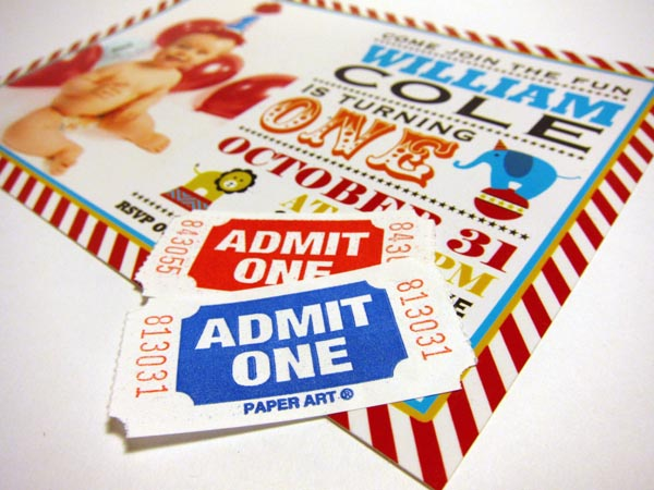 Announcing You vintage circus invitation