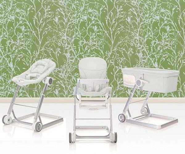 hauck i'coo grow with me 1-2-3 set bassinet highchair