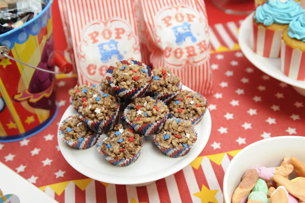 vintage circus birthday party chocolate crackles