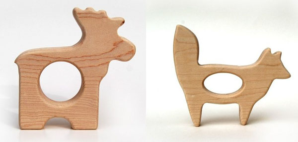 natural wooden teether