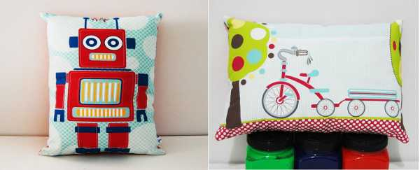 Decorative Cushions Tiges and Weince Robot Tricycle