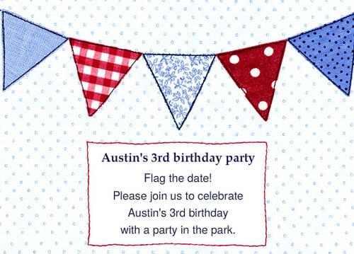 flag party invite invitation