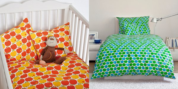 by graziela apple print bedding cot bed kids