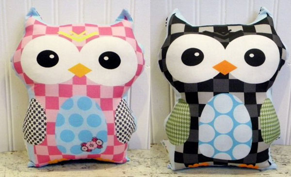 owl soft toys and cushions
