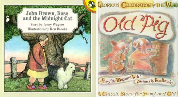 Old Pig by Margaret Wild, John Brown Rose and the Midnight Cat by Jenny Wagner