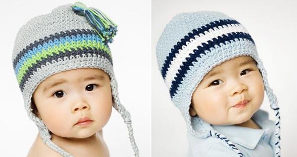 ear flap hats newborn boy tassle