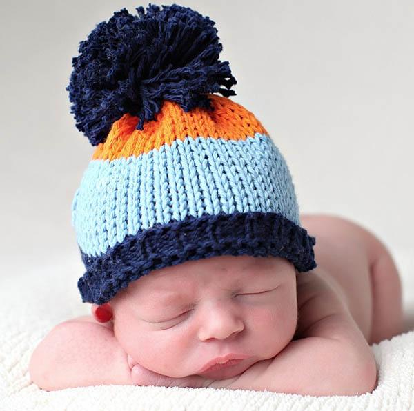 newborn hat pompom