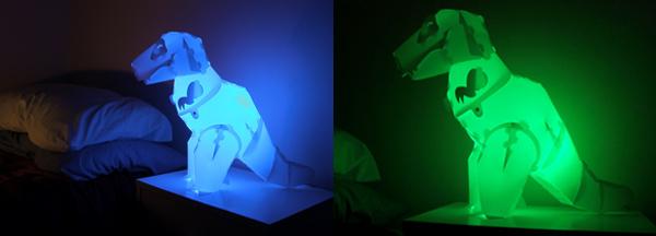 t-rex tyrannosaurus rex night light nightlight dinosaur