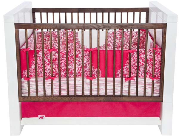 coral print bedding