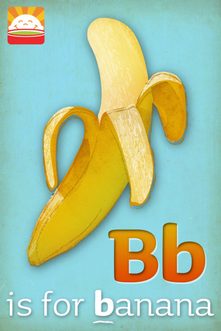 happybaby abc app 1 Fruity ABC flashcards in an app