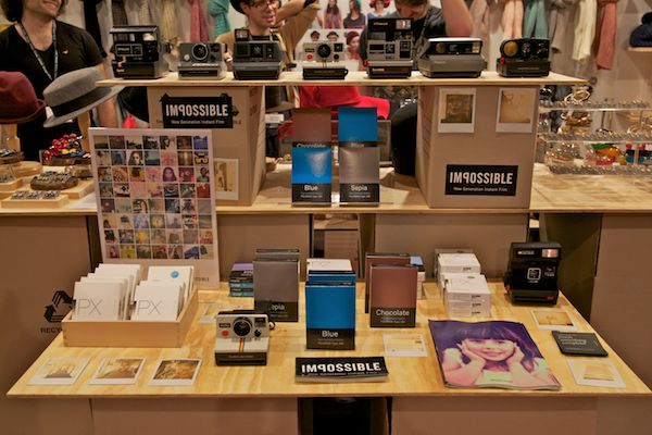 pigeonhole polaroid cameras