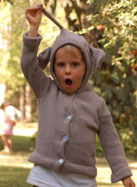 knit elephant jumper children