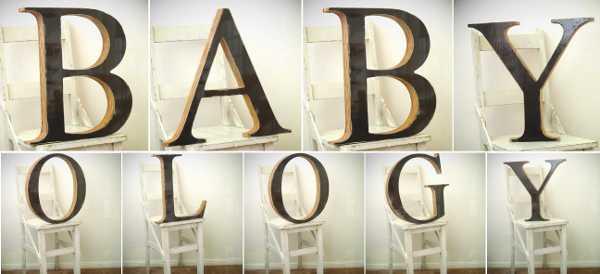 Vintage letters night light alphabet Fromage La Rue