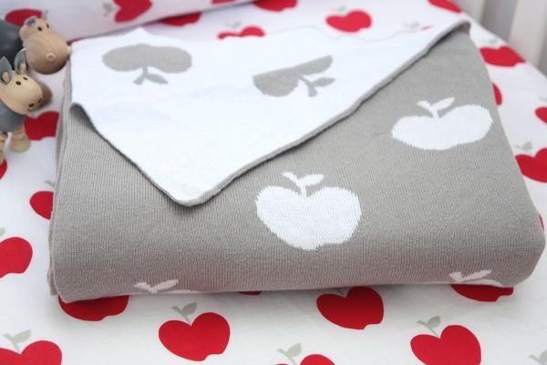 apple blanket baby bedding linen