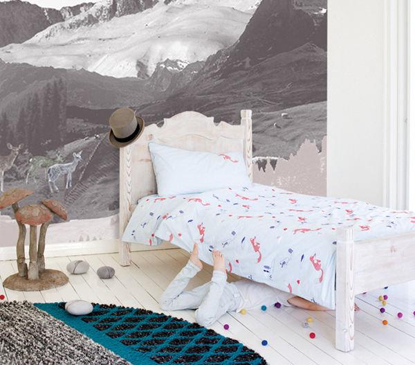 designer bedding cotton fox