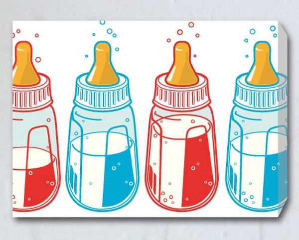Nootles wall art pop bottles