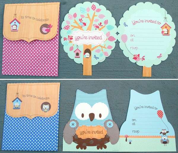 owl, bird, invitations