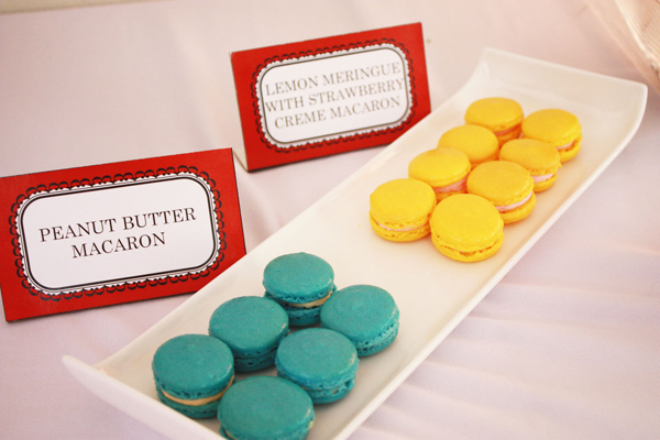 coloured macaroons