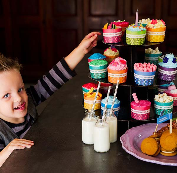 allergy warning labels for party food