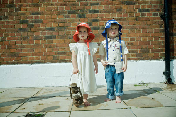 boys retro shirt and girls dress