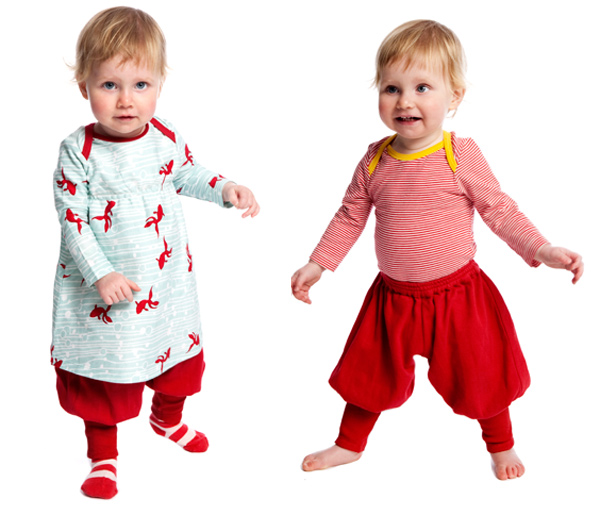 Frankie fish dress, Frankie red pant