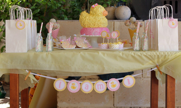 duck themed birthday party
