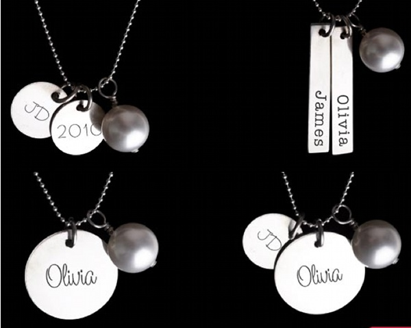 New personalised pendants from mooo jewellery pendant swarovski crystal pearl mothers day aloadofball Images