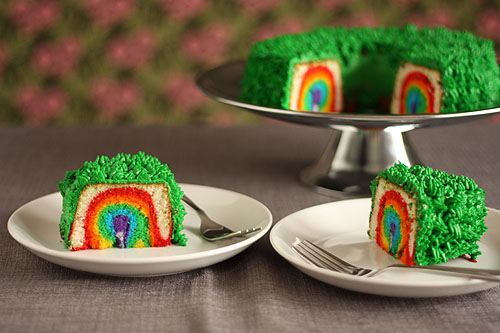 Leprechaun Trap Cake by Not Martha Rainbow Cake