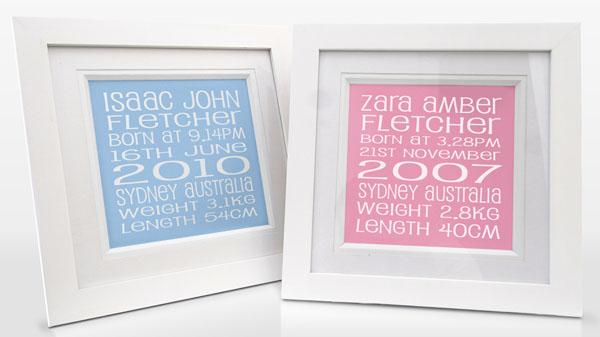 personalised typography art