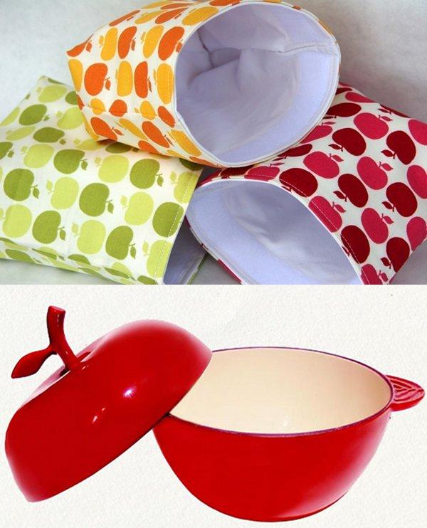 apple sandwich pouches cast iron pot cooking food