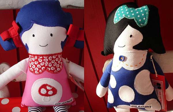 Evie and Henry dolls