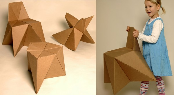 Clever cardboard furniture at foldschool for more clever cardboard