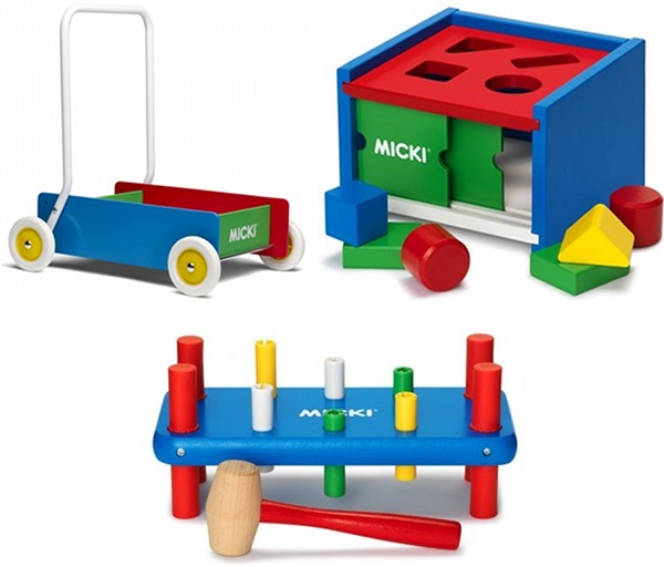 wagon and shape sorter