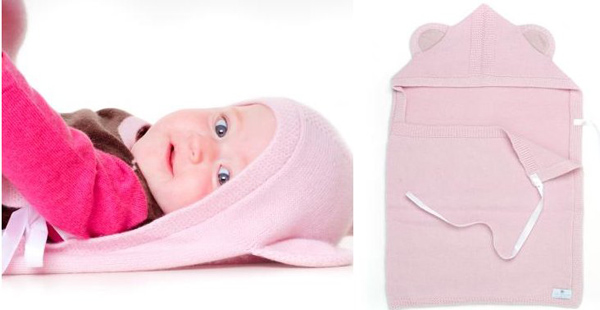 luxury children's knits, sleeping bag, blanket