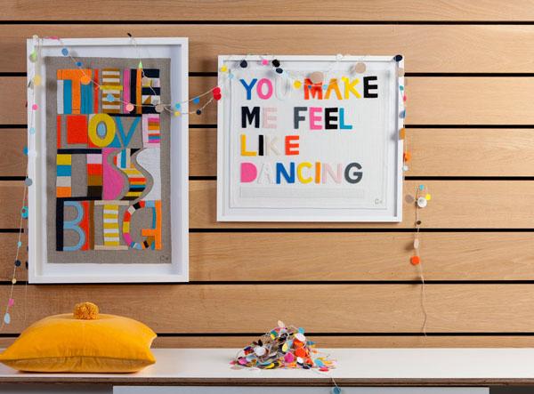 Wall art, Stitched Felt, Rachel Castle
