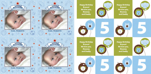 baby gift wrap, kids birthday wrapping paper