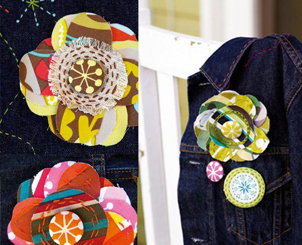 Brooch tutorial, handmade decoration