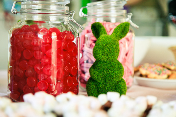 Easter bunny themed birthday party