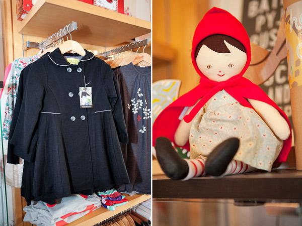 Chalk n Cheese coat, Alimrose Little Red Riding Hood doll