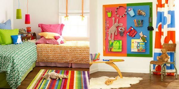 Shared Boys Geometrical Bedroom: Decorating Ideas For Boys And Girls