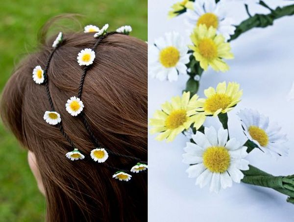 daisy chain hair accessory