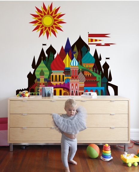 Imaginary castle wall decal