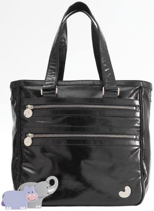 baby bag, leather, tote
